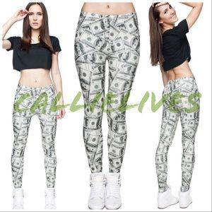 a8e26b6d8e4f9 Miz Cash: Money Hundred Dollar Bill Print leggings. Boutique